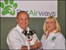 Dan Wiesel and Alysa Binder - pic Pet Airways
