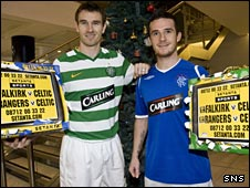 Celtic's Stephen McManus and Rangers' Barry Ferguson promote Setanta coverage