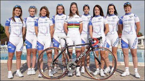 Nicole Cooke's Vision 1 team