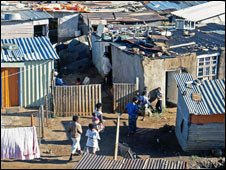 A township in Johannesburg