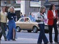 Люди на улицах Лондона в 1973 году
