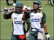 Younus Khan (right) is Pakistan's captain