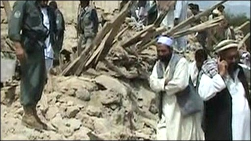 Afghan earthquake aftermath