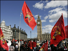 Central London protest against war in Sri Lanka