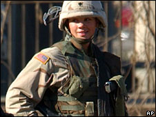 Female US soldier (file picture)