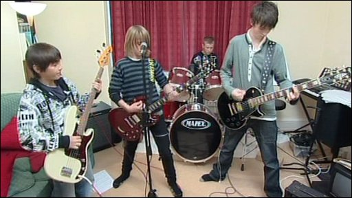 The boys in rehearsal