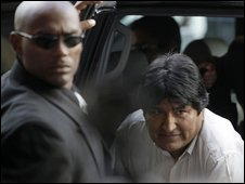 Bolivian President Evo Morales in Port of Spain, Trinidad
