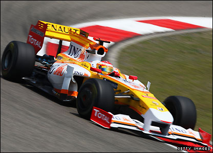 Fernando Alonso gets the most out of his revamped Renault