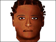 Police e-fit of the suspected rapist