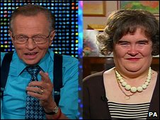 Susan Boyle and Larry King