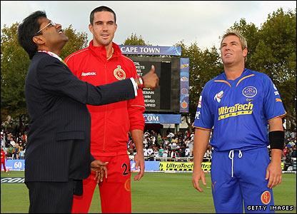 Lalit Modi, Kevin Pietersen and Shane Warne