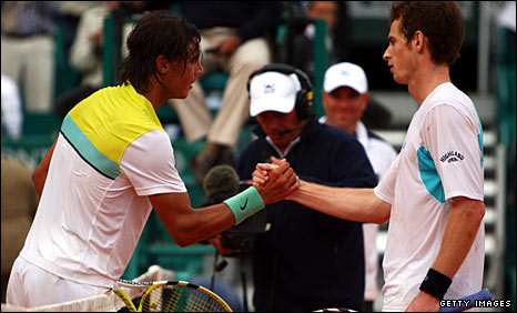 Rafael Nadal and Andy Murray