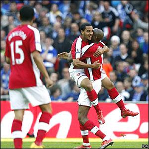 Denilson, Theo Walcott, Abu Diaby, Arsenal