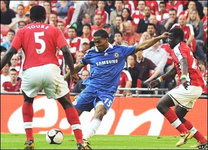 Kolo Toure, Emmanuel Eboue, Arsenal; Florent Malouda, Chelsea