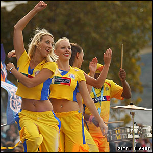 Cheerleaders at the IPL in Cape Town