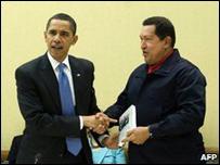 أوباما مع شافيز