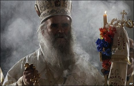 Orthodox Easter liturgy in Belgrade on Sunday 19 April 2009