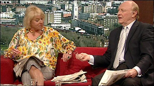 Carol Thatcher and Neil Kinnock