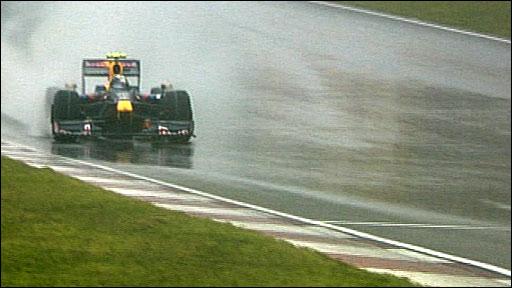 Sebastien Vettel approaches the final corner