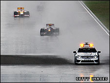 The safety car comes out in Shanghai