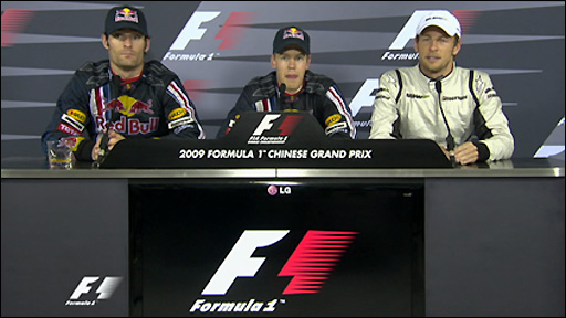 Chinese GP press conference