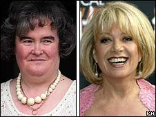 Susan Boyle and Elaine Paige