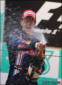Vettel puts in a sublime drive to seal his second Grand Prix victory and Red Bull's first win in 74 races