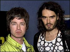 Noel Gallagher and Russell Brand