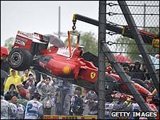 Felipe Massa's car after the Chinese Grand Prix
