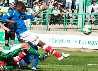 Maurice Edu scores Rangers third of the afternoon