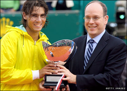 Rafael Nadal and Prince Albert II of Monaco