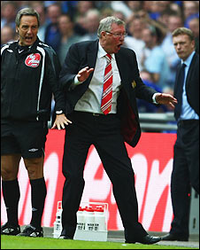 Sir Alex Ferguson was furious with the decision not to award Man Utd a penalty