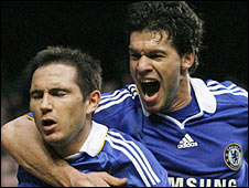 Frank Lampard and Michael Ballack