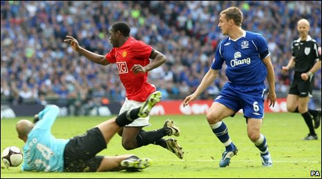 Tim Howard, Danny Welbeck and Phil Jagielka