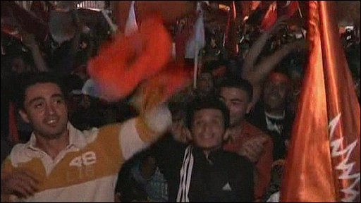 Supporters celebrate