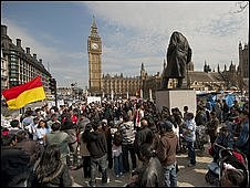 Tamil protesters on 19 April 2009
