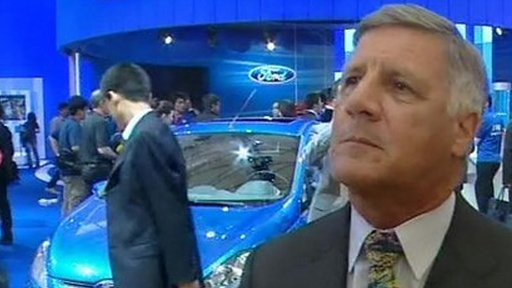 John Parker at the Shanghai motor show