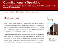 Constitutionally Speaking blog