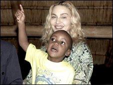 Madonna and son, David