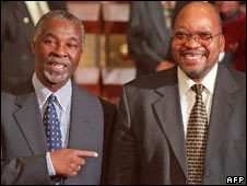 Thabo Mbeki [l] and Jacob Zuma [r] in 1999