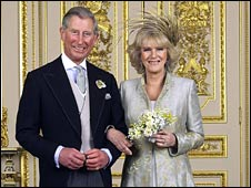 Prince Charles and Camilla on their wedding day in 2005