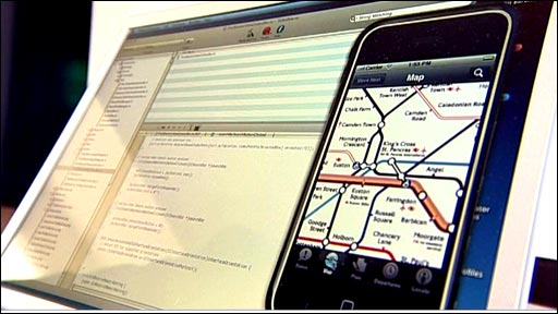 iPhone shown on an independent application