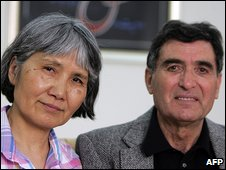Reza Saberi and his wife Akiko
