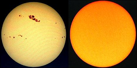 Les taches solaires pouvaient être vues en 2001 avec le télescope Soho, mais pas cette année.