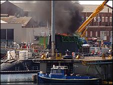 Submarine fire
