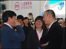 Visitors to Shanghai auto show