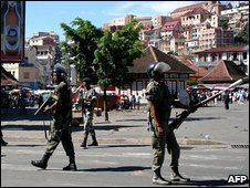 Riot police in Antananarivo, Madagascar. Photo: March 2009