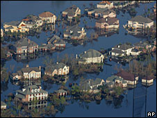 Flooding in New Orleans in the aftermath of Hurricane Katrina (file picture)