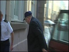 Gordon Wateridge arriving at court