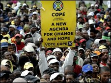 Cope supporters in Cape Town